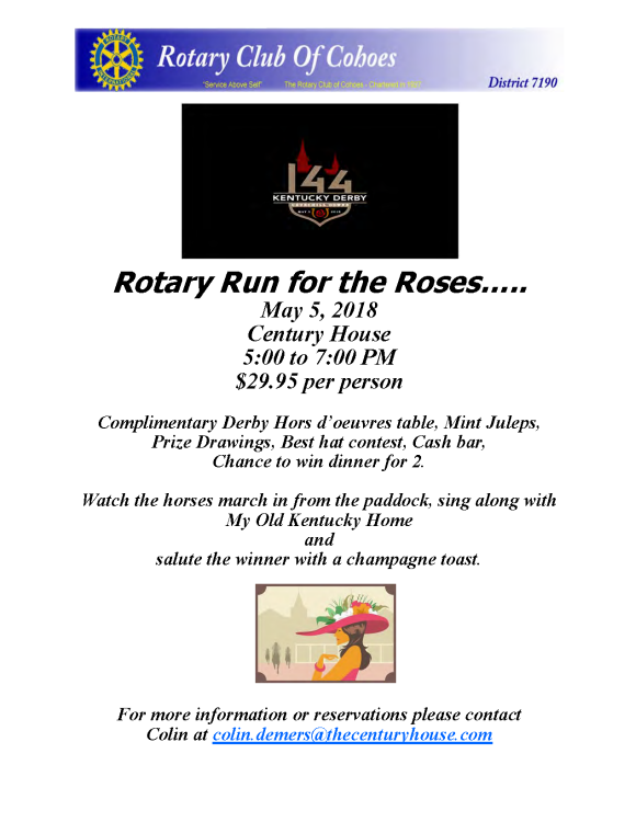 Rotary Run for the Roses…..
