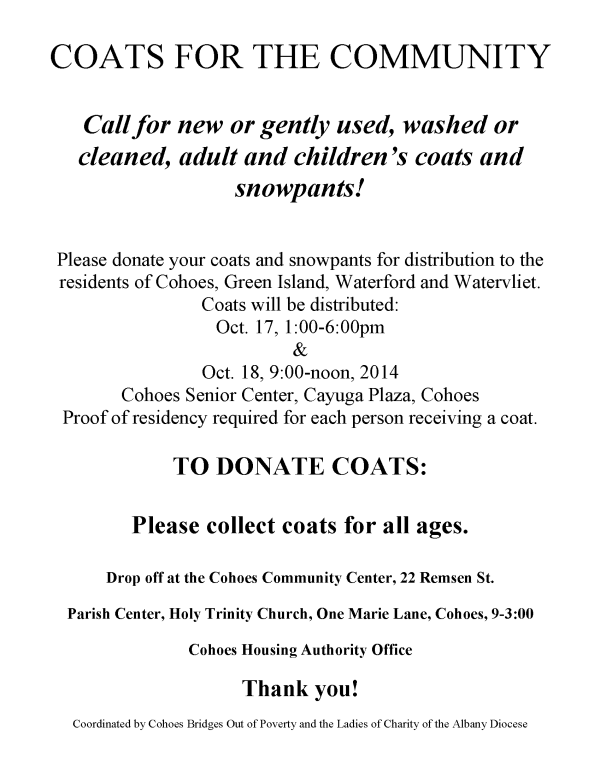 COATS FOR THE COMMUNITY
