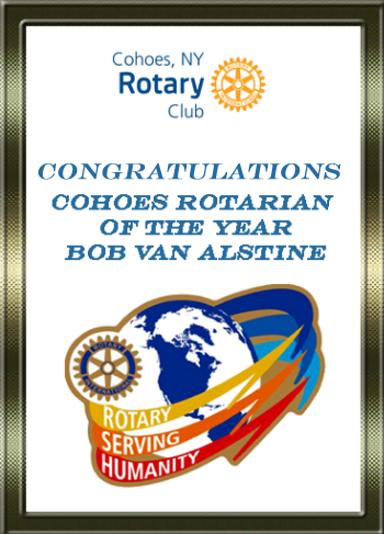 Rotarian of the Year Bob Van Alstine
