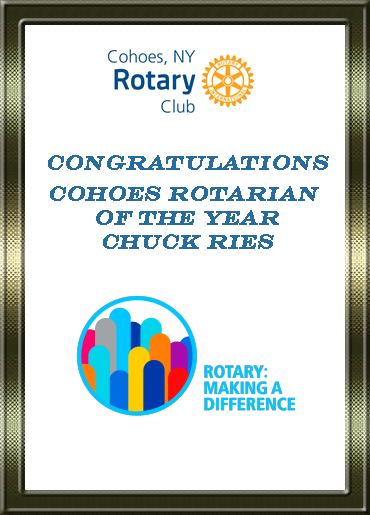 Rotarian of the Year Chuck Ries