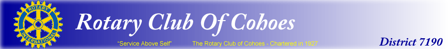 Rotary Club of Cohoes - District 7190