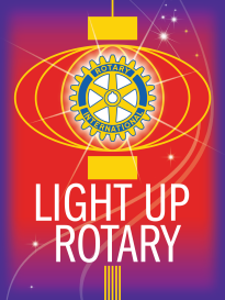 "Light Up Rotary - RI President-elect Gary C.K. Huang chose Light Up Rotary as his theme for 2014-15. Huang is urging club members to Light Up Rotary by hosting a Rotary Day in their community, continuing our fight against polio, and increasing club membership. ""Light Up Rotary is more than our theme. It is how we make a difference -- every day, in every club, and every country we serve."""